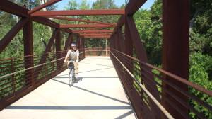 Metal Bridge on Murfreesboro Greenway-01