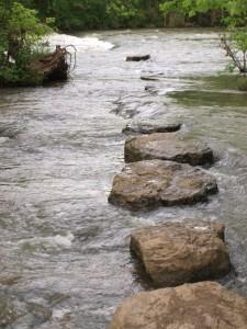 Rocks beside Greenway Murfreesboro