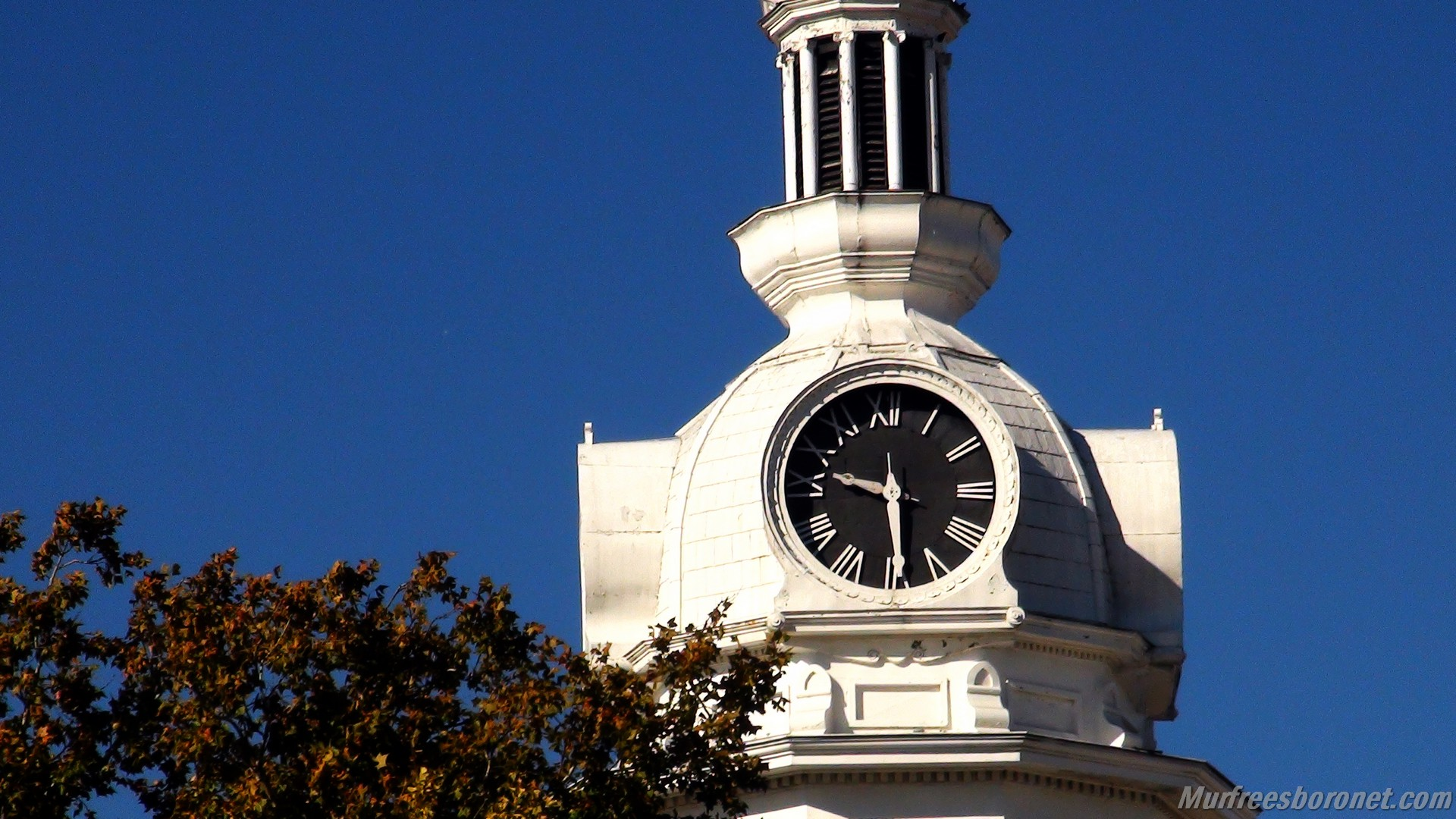 Courthouse Cupola Clock Tower 1 Murfreesboro Public Square Fall 2012 Images